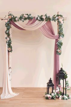 Diy Wedding Decorations 62583 Wedding Arch Floral Garland (Set of 2 Rows) - 2 Colors Diy Wedding Backdrop, Diy Wedding Decorations, Simple Wedding Arch, Diy Wedding Arch Flowers, Arch Wedding, Floral Decorations, Wedding Arch Greenery, Indoor Wedding Arches, Wedding Stage Decorations