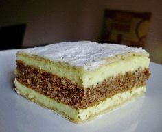 Romanian Desserts, Romanian Food, European Dishes, Eastern European Recipes, Torte Recepti, Czech Recipes, Hungarian Recipes, Cake Bars, Food Cakes