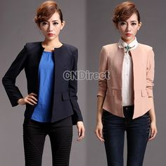 $16.00, Korean Fashion Long-Sleeve Slim Fit Casual Suit/Tops