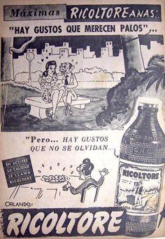 Ricoltore Aceite Comestible 1950's