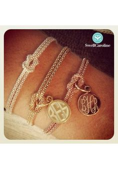 Square Knot Bracelets - Sterling Silver, Gold and Rose Gold