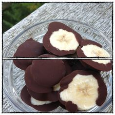 Excellent! Need thin slices so they fit in kids' mouths. Good w shredded coconut in choc. frozen chocolate banana bites