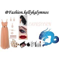 Fashion set ZODIAC: Capricorn created via Fashion Beauty, Fashion Looks, Beauty Style, Zodiac Capricorn, Tulle Dress, Dress Styles, Hair Styles, Trendy Outfits, Jewellery