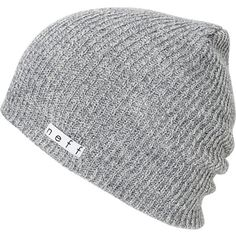 The Neff Daily slouch beanie is the ultimate in classic head wear. This grey Neff beanie is extra soft with a slightly ribbed knit texture, a slight slouch fit, and a custom Neff Clothing logo tag. The Neff Daily beanie looks great on guys and girls. Really, its the kind of knit hat you could wear DAILY!