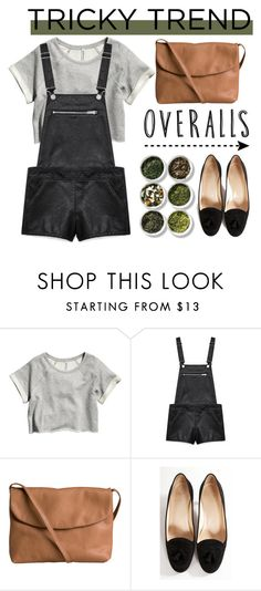 """Tricky Trend : Overalls"" by nastya-d ❤ liked on Polyvore featuring H&M, Forever 21, Pieces, Christian Louboutin, Tea Collection, TrickyTrend and overalls"