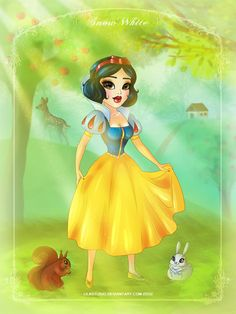 Snow White with Friends by ~lilastudio on deviantART