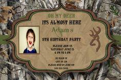 Realtree Camo Birthday Invitation by CharmingAngel on Etsy, $12.00