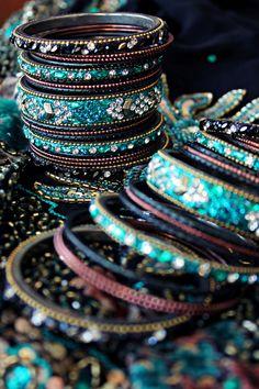 glittery, sparkly bangles galore