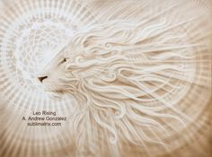 Leo Rising, lion painting by A. Andrew Gonzalez