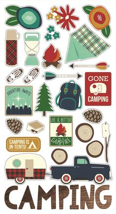 Cabin Fever Chipboard Stickers - Simple Stories