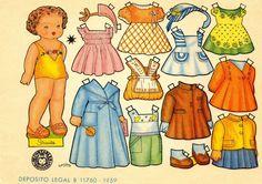 VINTAGE, EL GLAMOUR DE ANTAÑO: Muñecas Recortables - Días de Juegos 1