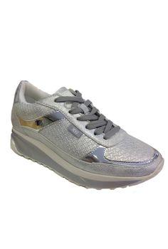 3642a8459db Xti Metallic Silver Sneaker