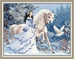 """Вышивалка: Скачать схему вышивки """"Золотое руно"""" Фэнтези Ф-028 """"Волшебный лес"""""""