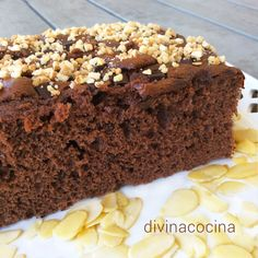 Nutella or nutella sponge cake Diabetic Recipes, Mexican Food Recipes, Dessert Recipes, Sponge Cake Recipes, Biscuits And Gravy, Something Sweet, Chocolate Desserts, Yummy Cakes, Tapas