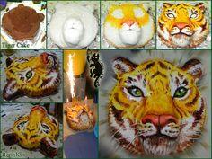Tiger Cake Process by RerinKin.deviantart.com on @deviantART