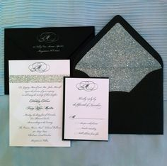Glitter Invitations