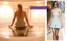 Scream Queens Fashion-Where To Buy Scream Queens Season 2, Scream Queens Fashion, Chanel Oberlin, Studded Dress, Queen Fashion, Emma Roberts, Strapless Dress, Dress Up, Seasons