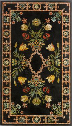 An Italian scagliola table top, Florentine, second half 17th century