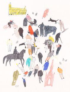 PRINCE'S ST / EDINBURGH - Molly Martin Illustration