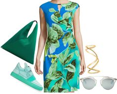 Styling Wizard: Floral Print Cap Sleeve Dress with Slip Ons
