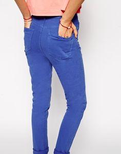 ASOS Farleigh High Waist Slim Mom Jeans In Cobalt