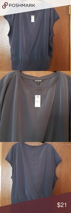 Express top Express grey top. NWT. Silky feel Express Tops Blouses