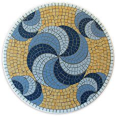 Easy Mosaic Ideas | Fresh design for a lazy susan, make this pretty piece over 3 days ...