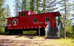 This train at the Izaak Walton Inn in Essex, Montana was renovated to be a small cabin.