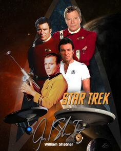 Star Trek - William Shatner. Autograph is photoshopped from a different picture.