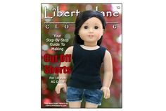 18 inch Doll Clothes Pattern: Cut off Shorts | Liberty Jane Doll Clothes Patterns For American Girl Dolls