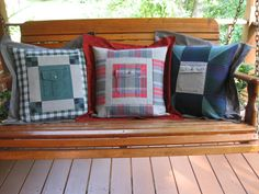 Memory Pillow 18 by QuiltHenDesigns on Etsy