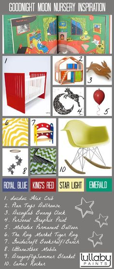 Nursery Inspiration: Build your nursery around the classic children's book 'Goodnight Moon'!
