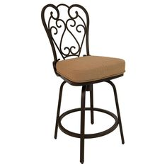 Magnolia 26-inch Outdoor Bar Stool With Fabric Cushion