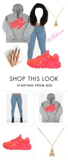 """Untitled #78"" by kikixxo ❤ liked on Polyvore featuring NIKE"
