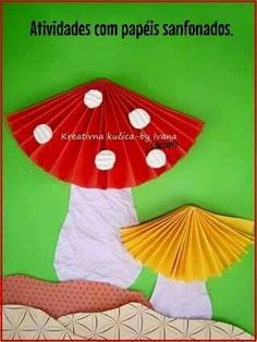 Paper craft Ideas for kids Kids Crafts, Toddler Crafts, Preschool Crafts, Diy And Crafts, Arts And Crafts, Autumn Crafts, Spring Crafts, Art Plastic, Diy Paper