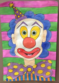 happy painted clown portrait