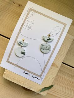 Handmade Green and White Polymer Clay Earrings ideas handmade Simple small-batch jewelry for the contemporary woman by HelloAshto Polymer Clay Crafts, Resin Crafts, Polymer Clay Jewelry, Jewelry Packaging, Jewelry Branding, Diy Clay Earrings, Jewelry Photography, Handmade Jewelry, Diy Jewelry