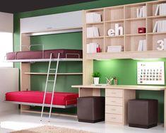 Todo para habitaciones y dormitorios infantiles y juveniles. Armarios, camas de diseño, mesas de escritorio... Moderno, funcional y práctico con FACILmobel.