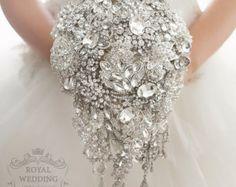 Ramo ramo de novia broche ramo novia vestido por RoyalWeddingDecore