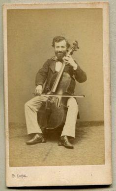 Carte-De-Visite-RARE-Brazil-Antonio-Francisco-BRAGA-Musician-Violinist-1860