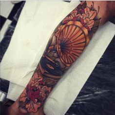 oldlinesblog:  #tattoo by @tom_bartley  #tattoos #tattooart #neotrad #neotraditional #colortattoo