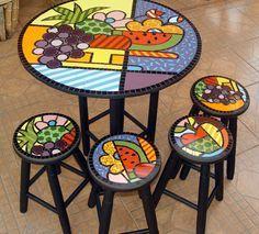 mesas con mosaicos - Google Search