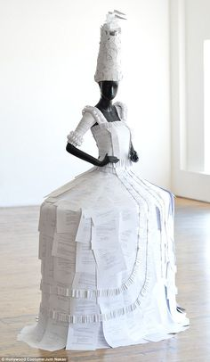 Recreated: Fashion designer Jum Nakao crafted this dress made entirely from paper (picture...