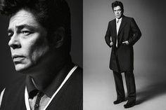 Benicio del Toro para la campaña de Prada Menswear SS 13, fotografiada por David Sims.