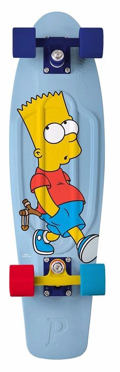 Skateboards-Complete 16264: Penny 27 Inch Bart Simpson Whistling Blue Red Nickel Board Complete 59Mm Wheel -> BUY IT NOW ONLY: $99 on eBay!