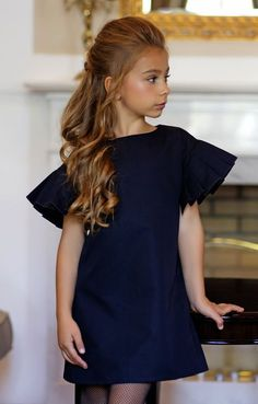 Must Have of the Day: Classy and timeless appeal with Amelie et Sophie luxury high-end kidswear brand and ready for a wedding Little Girl Fashion, Kids Fashion, Little Girl Dresses, Girls Dresses, Moda Kids, Girl Dress Patterns, Kind Mode, Baby Dress, Beautiful Outfits