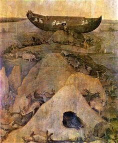 Arche de Noé sur le mont Ararat, attribué à Bosch.jpg (1476×1800)