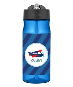 Another great find on #zulily! Airplane Ride 18-Oz. Personalized Tritan Water Bottle #zulilyfinds