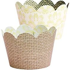 AmazonSmile: Rustic Burlap Cupcake Wrappers, Pink and Gold Lace, Confetti Couture Party Supplies, 36 Wraps: Kitchen & Dining