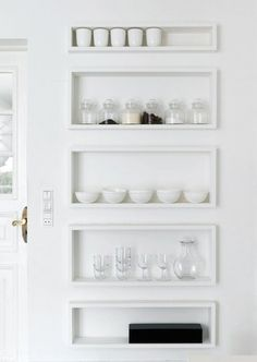 love these shallow cubes for storing small much used items